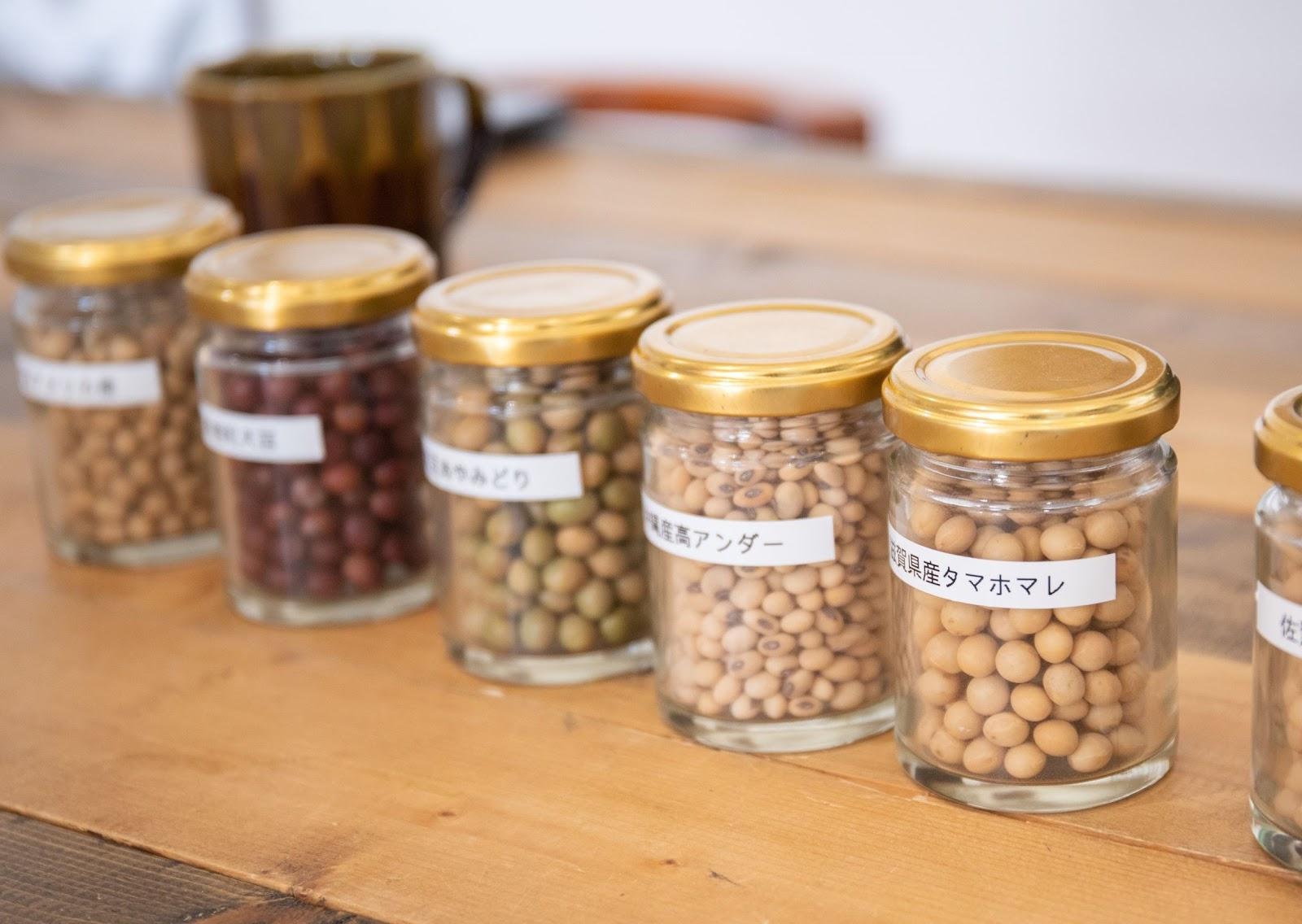 数ある大豆から食べ比べ、滋賀県産の「タマホマレ」を採用